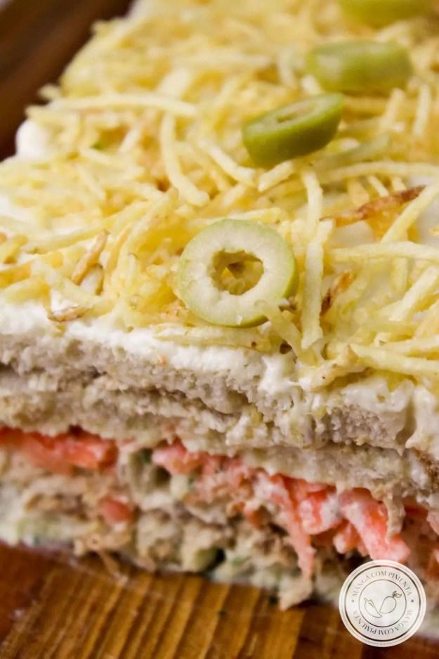 Receita de Torta Fria de Atum - prepare essa delícia para o Lanche da Tarde!