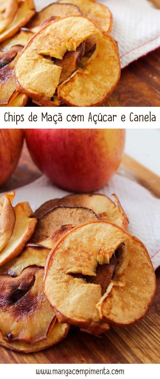 Chips de Maçã com Açúcar e Canela