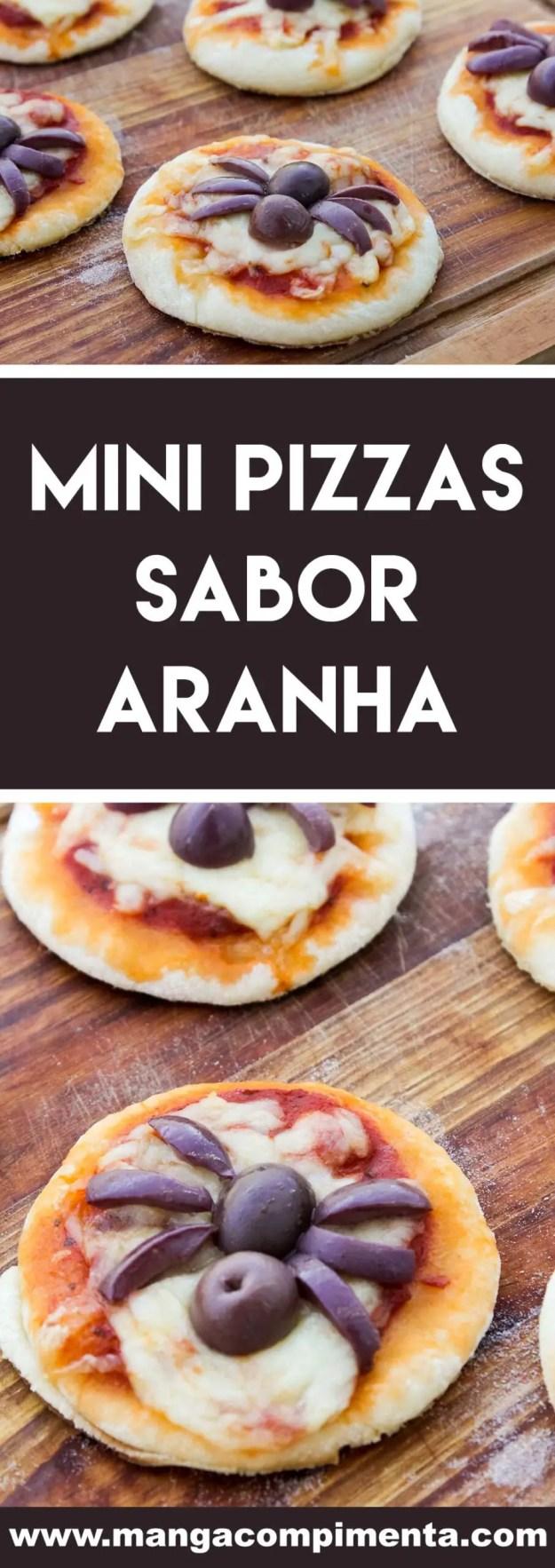 Receita de Mini Pizzas sabor Aranha - para o lanche das bruxas e magos que moram na sua casa!