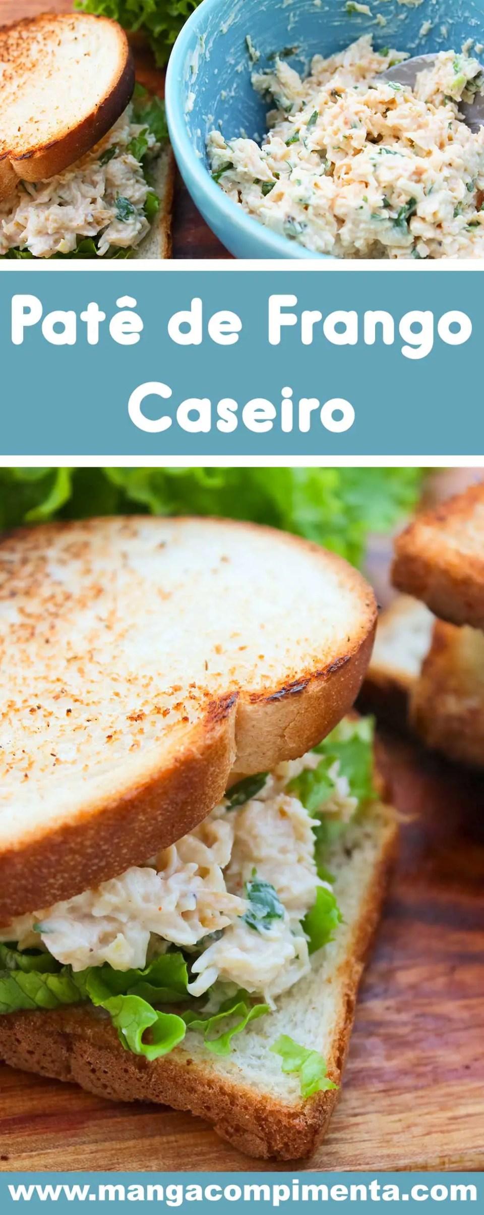 Receita de Patê de Frango Caseiro Delicioso! Para preparar um lanche ou petisco para o café da tarde.