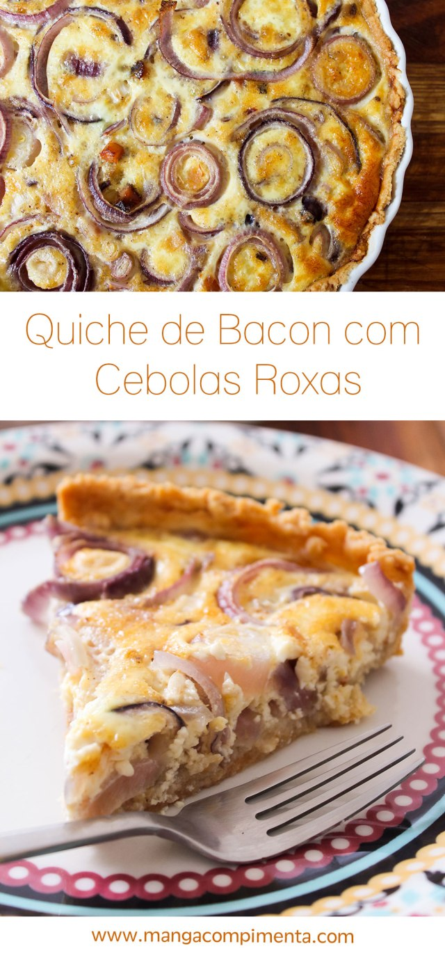 Receita de Quiche de Bacon com Cebolas Roxas | Natal e Ano Novo