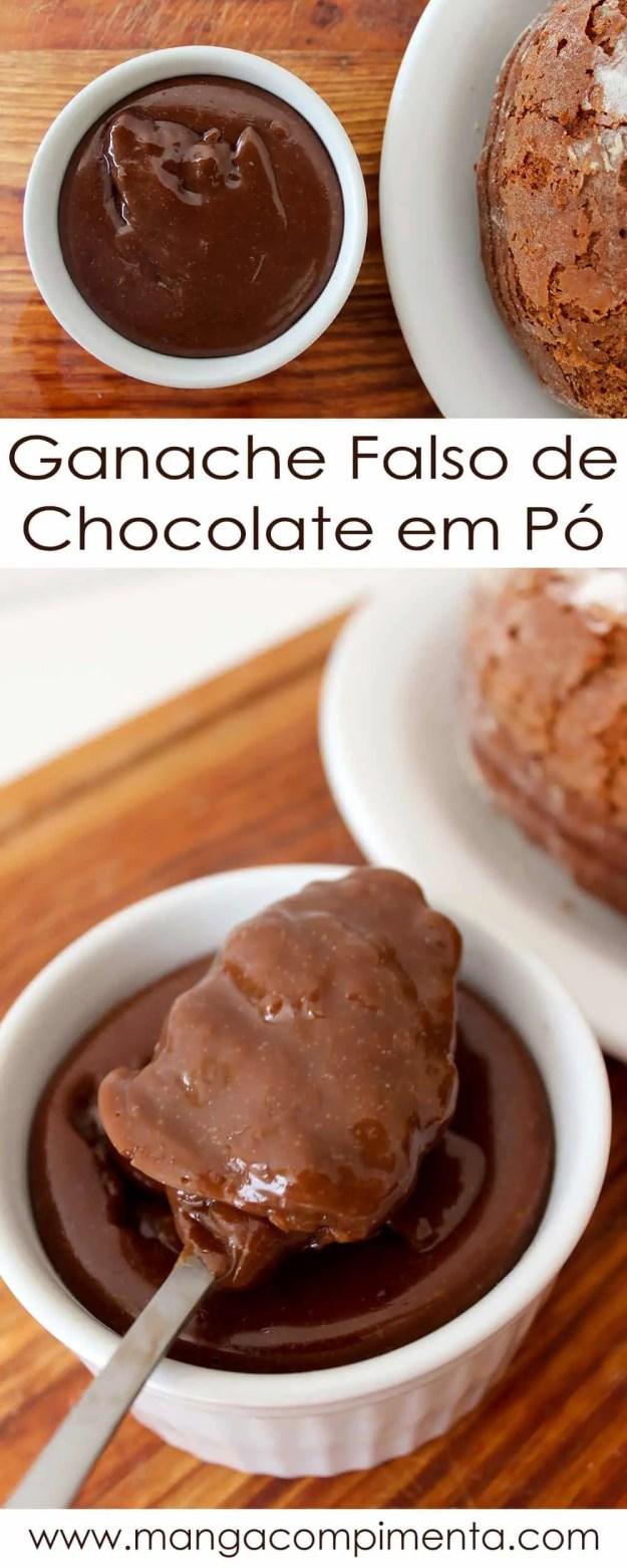 Receita de Ganache Falso de Chocolate em Pó | Para comer de colher ou usar como cobertura de bolo