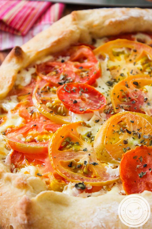Torta Rústica de Tomate e Requeijão | Lanche da Tarde do final de semana!