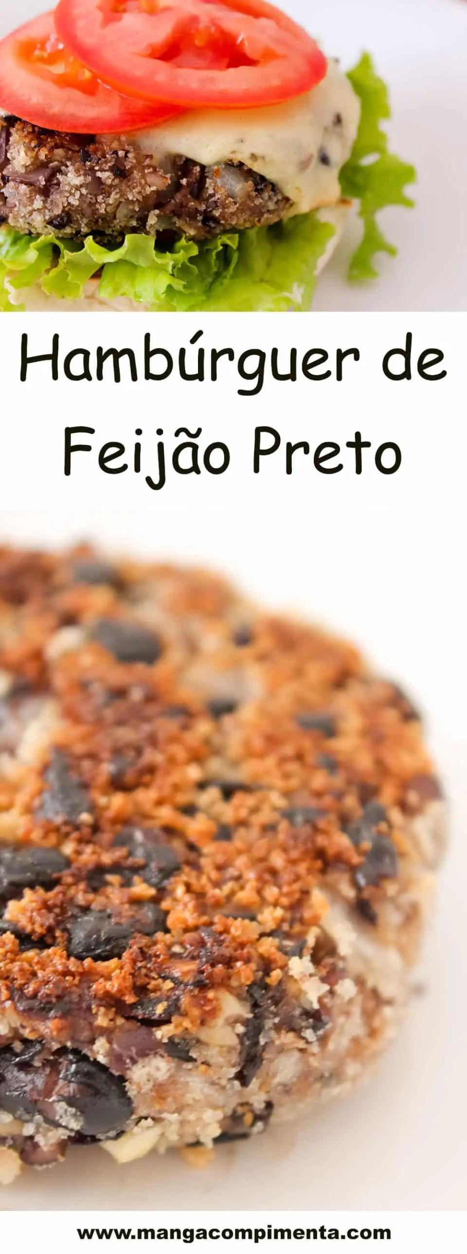 Hambúrguer de Feijão Preto - um lanche para o final de semana!