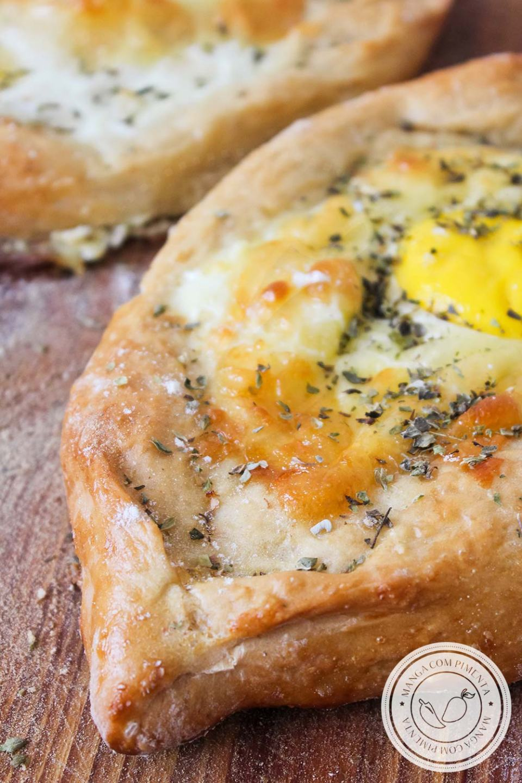 Khachapuri - Receita especial de um pão recheado com queijo e ovo de um país chamado Geórgia!