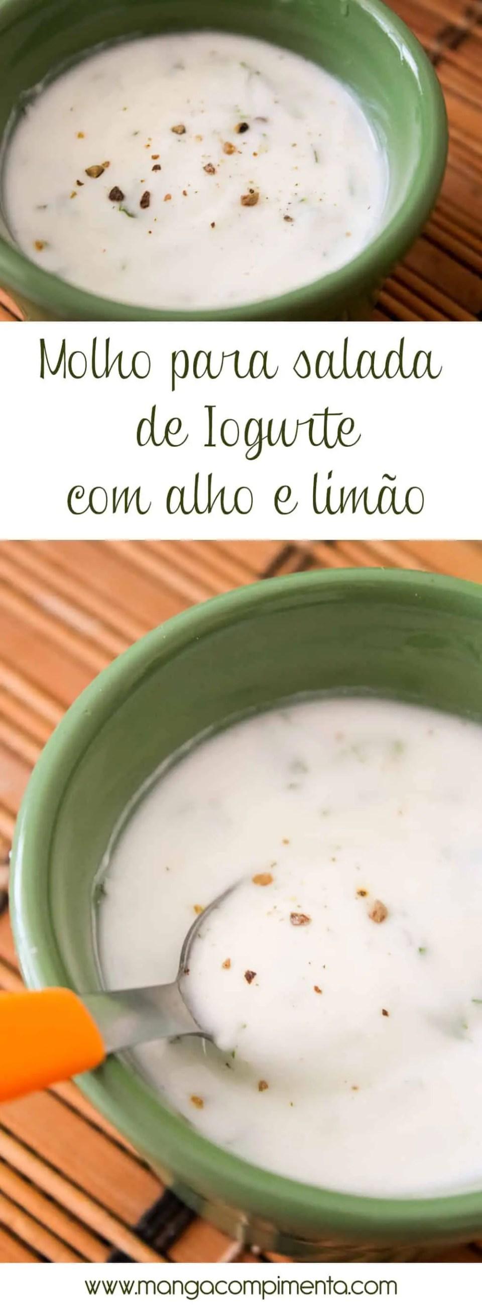 Receita de Molho para Salada de Iogurte com Alho e Limão - Para deixar qualquer salada saborosa!