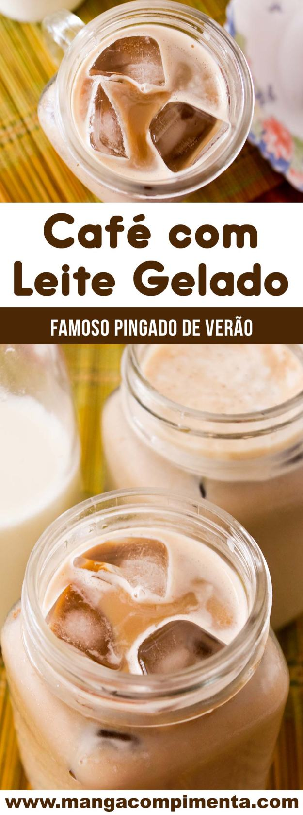 Receita de Café com Leite Gelado - prepare o famoso pingado gelado para os dias quentes!