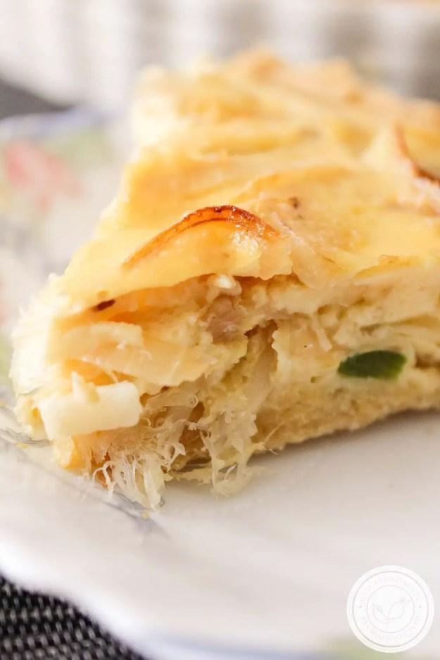 Quiche de Bacalhau com Cebolas Caramelizadas - Aprenda a fazer uma deliciosa torta para datas especiais ou almoço de Domingo.