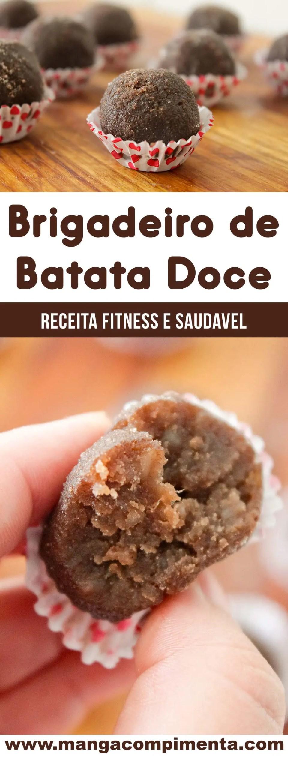 Brigadeiro de Batata Doce com Chocolate - um docinho super saudável e delicioso!