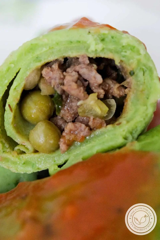 Massa de Panqueca de Couve - um prato com uma cor verde intensa para o almoço da semana.