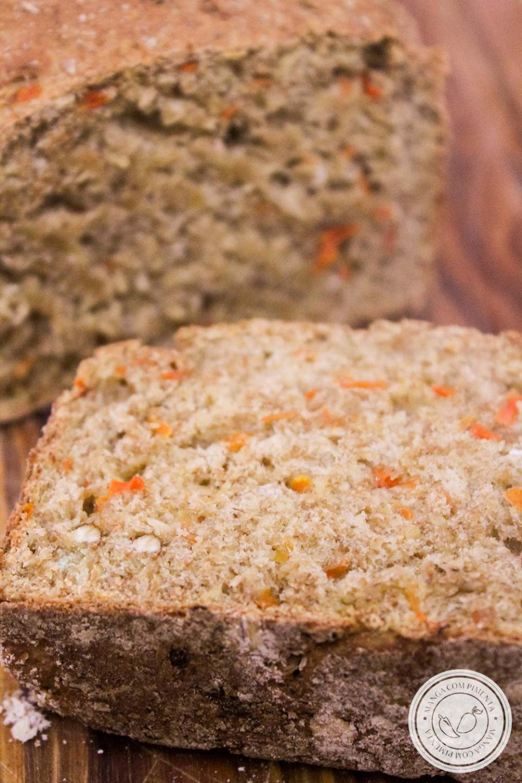Pão Integral com Aveia e Cenoura - 100% Integral para o café da manhã ou lanche da tarde nutritivo!
