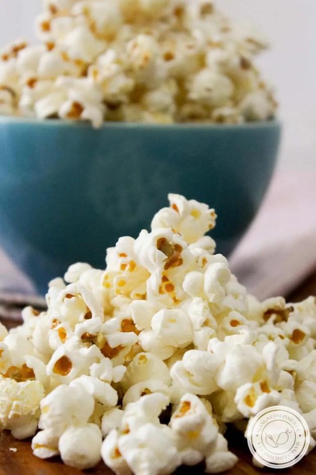 Lanche para comer assistindo um filme.