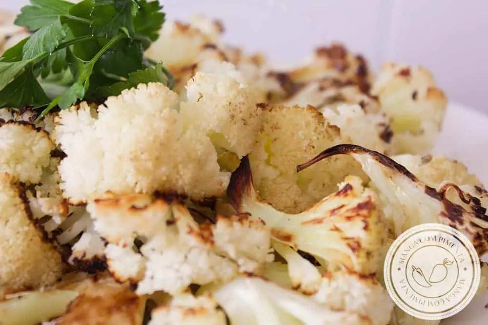 Couve-flor Assada no Forno - para quem procura praticidade e um prato delicioso para o almoço ou jantar!