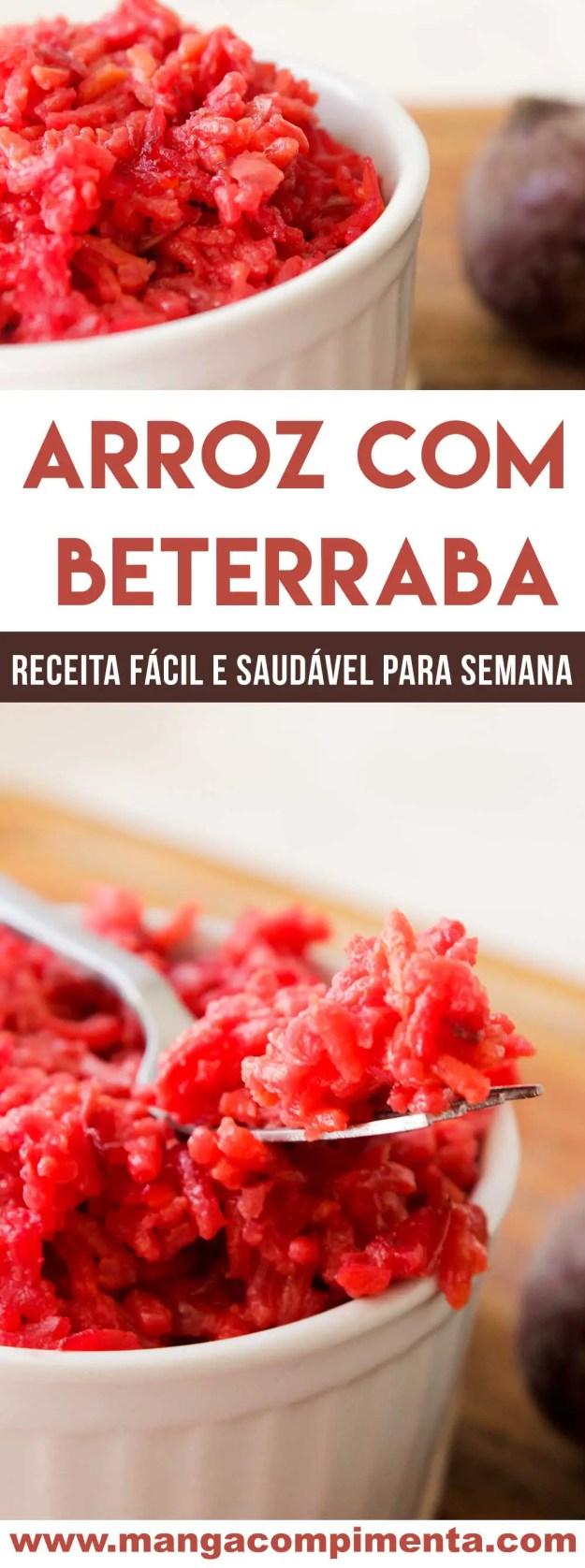 Receita de Arroz com Beterraba - um delicioso e nutritivo prato para o almoço da família!