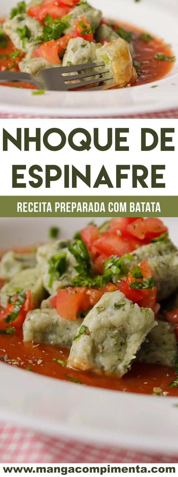 Nhoque de Espinafre com Batata - para um almoço caseiro e delicioso no final de semana!