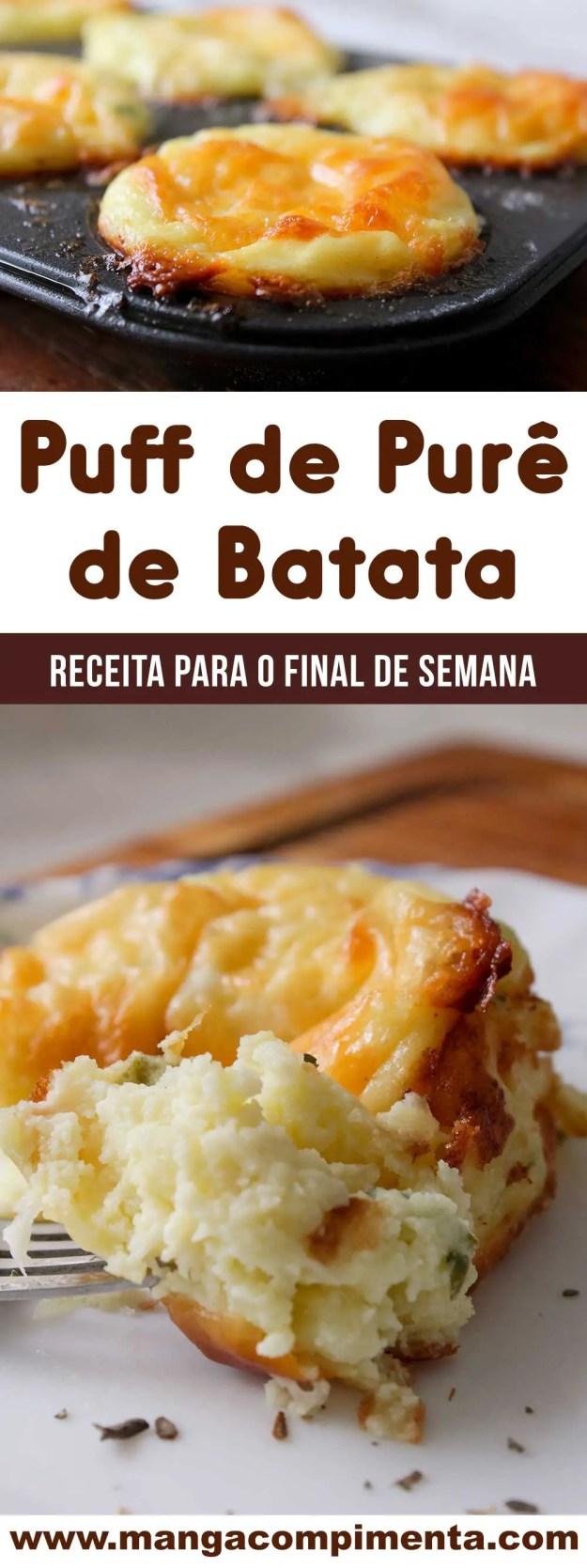 Receita de Puff de Purê de Batata com Queijo - para um almoço caseiro e leve da semana!