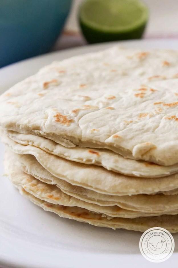 Receita de Tortillas de Farinha de Trigo - para um almoço mexicano com os amigos!