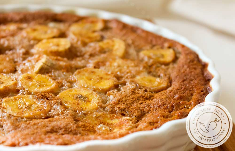 Receita de Clafoutis de Chocolate e Banana - uma delícia para o lanche da tarde com as pessoas que você mais ama!