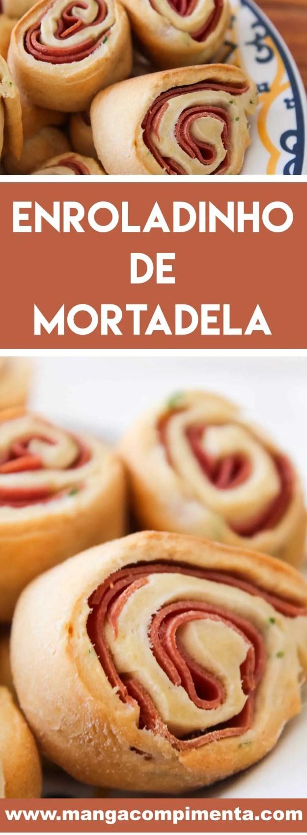 Receita de Enroladinho de Mortadela - um petisco gostoso para comer acompanhado com os amigos e uma bebida geladinha!