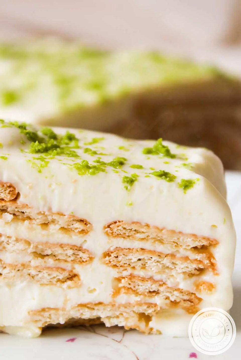 Receita de Pavê de Limão - um doce delicioso, fácil de fazer e não vai ao fogo.