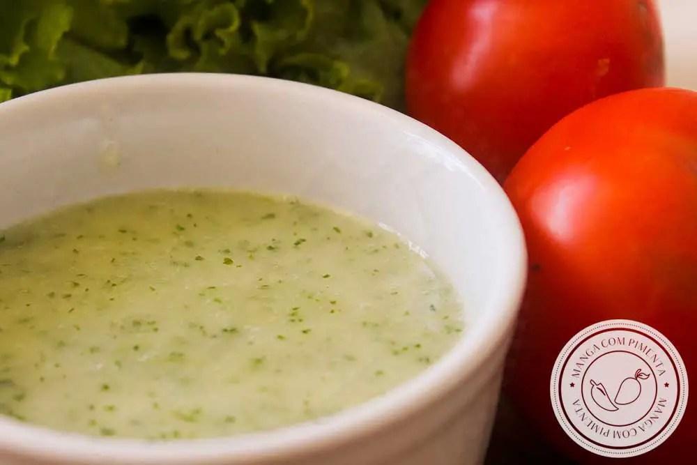 Receita de Molho de Hortelã para Salada - um delicioso molho para temperar a sua salada neste verão!