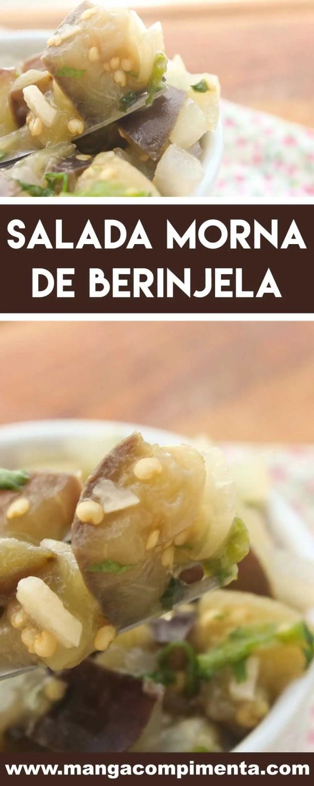 Receita de Salada Morna de Berinjela - um prato delicioso e nutritivo para o almoço ou jantar da semana.Receita de Salada Morna de Berinjela - um prato delicioso e nutritivo para o almoço ou jantar da semana.