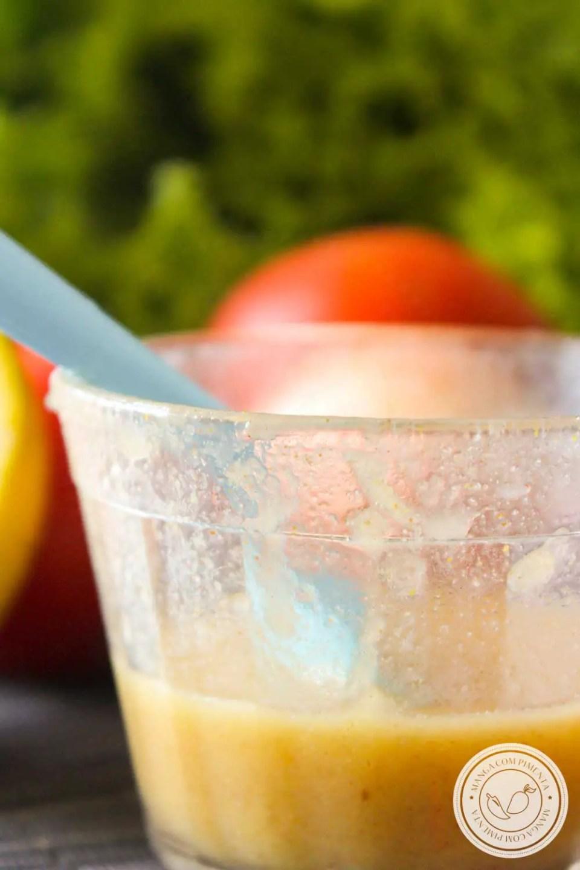 Receita de Molho de Laranja e Mostarda para Salada - tempero diferente para deixar o seu almoço ou jantar mais gostoso!