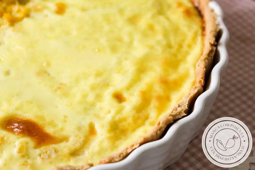 Receita de Quiche de Milho Verde - um prato delicioso para servir no final de semana para as pessoas que você ama.