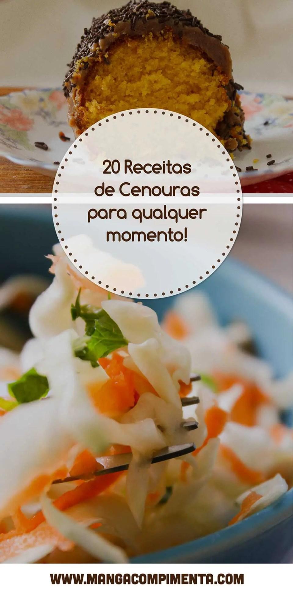 Confira as 20 Receitas de Cenouras para qualquer momento aí na sua casa!