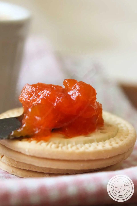 Receita de Geleia de Mamão - sirva no café da manhã ou no lanche da tarde.