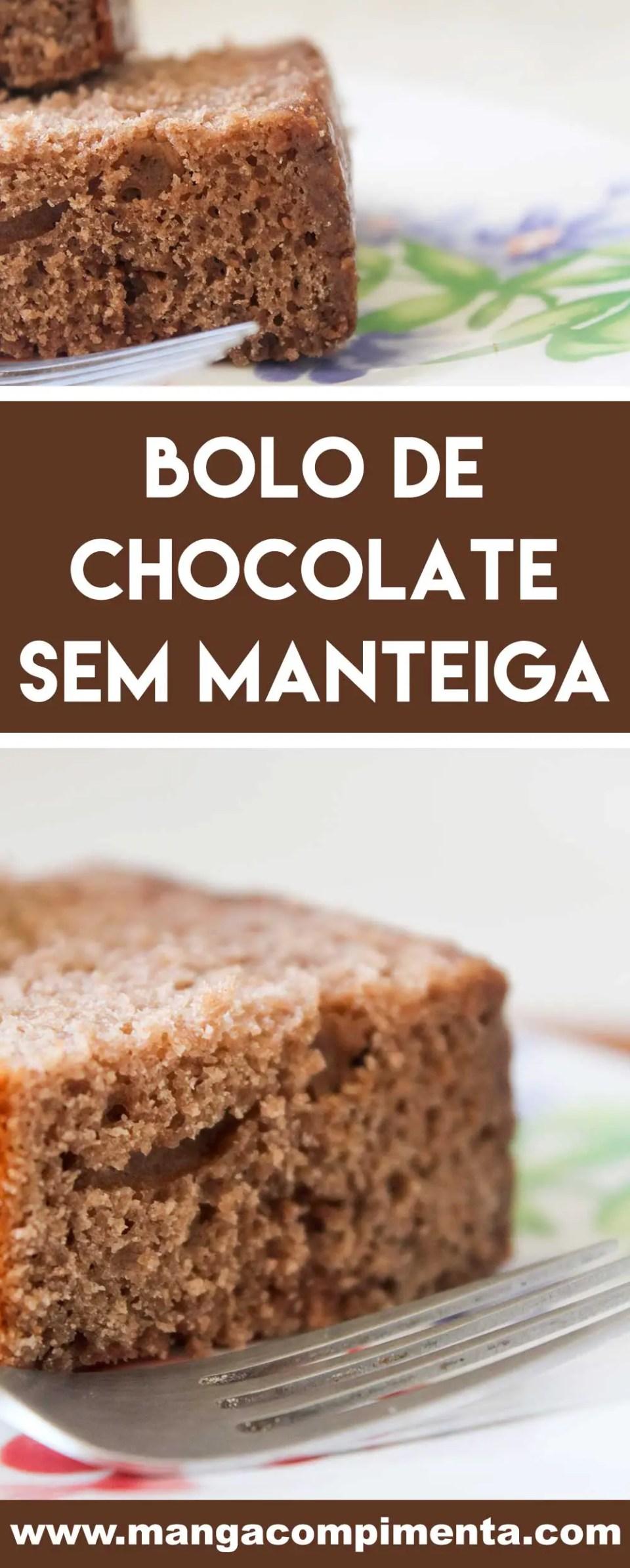 Receita de Bolo de Chocolate sem Manteiga ou Óleo - para o café da manhã ou lanche da tarde!