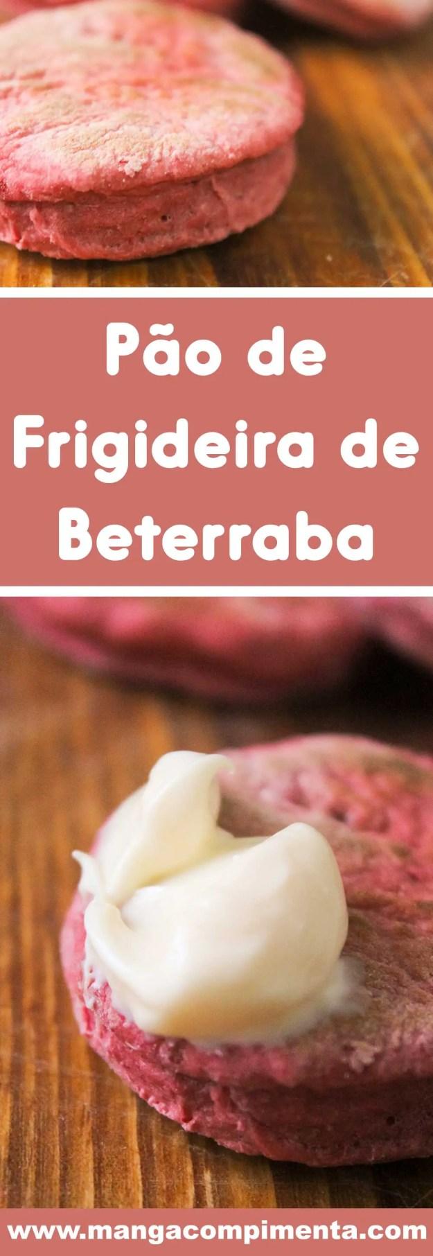 Receita de Pão de Frigideira de Beterraba - prepare um lanche delicioso e colorido para os pequenos nas férias!