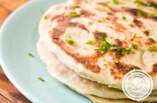 Receita de Pão Indiano Naan - para um lanche diferente com os amigos.
