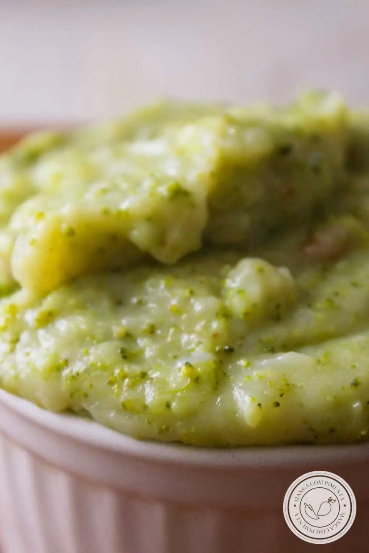 Receita de Purê de Brócolis - um acompanhamento delicioso para o almoço ou jantar da semana da sua família!