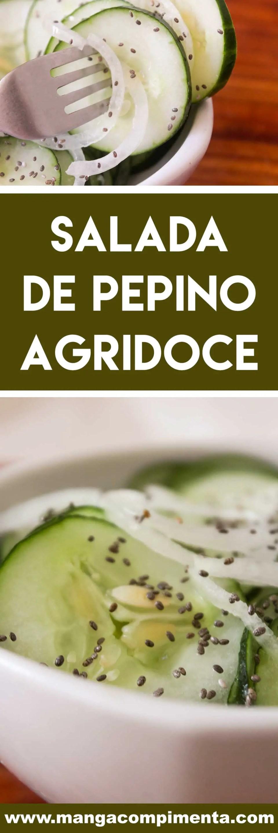 Receita de Salada de Pepino Agridoce - para deixar o almoço da família mais gostoso.
