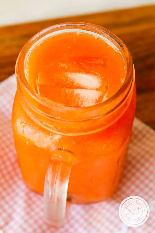 Receita de Suco de Mamão com Laranja - prepare uma bebida nutritiva e gostosa para o café da manhã.