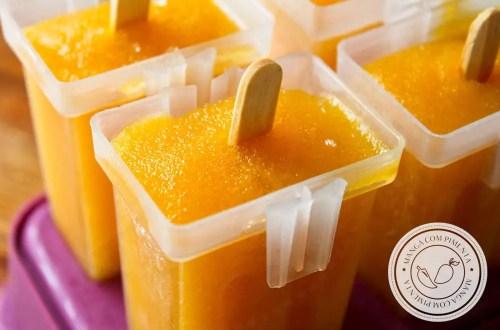 Receita de Picolé de Manga - para se refrescar nos dias quentes de verão!
