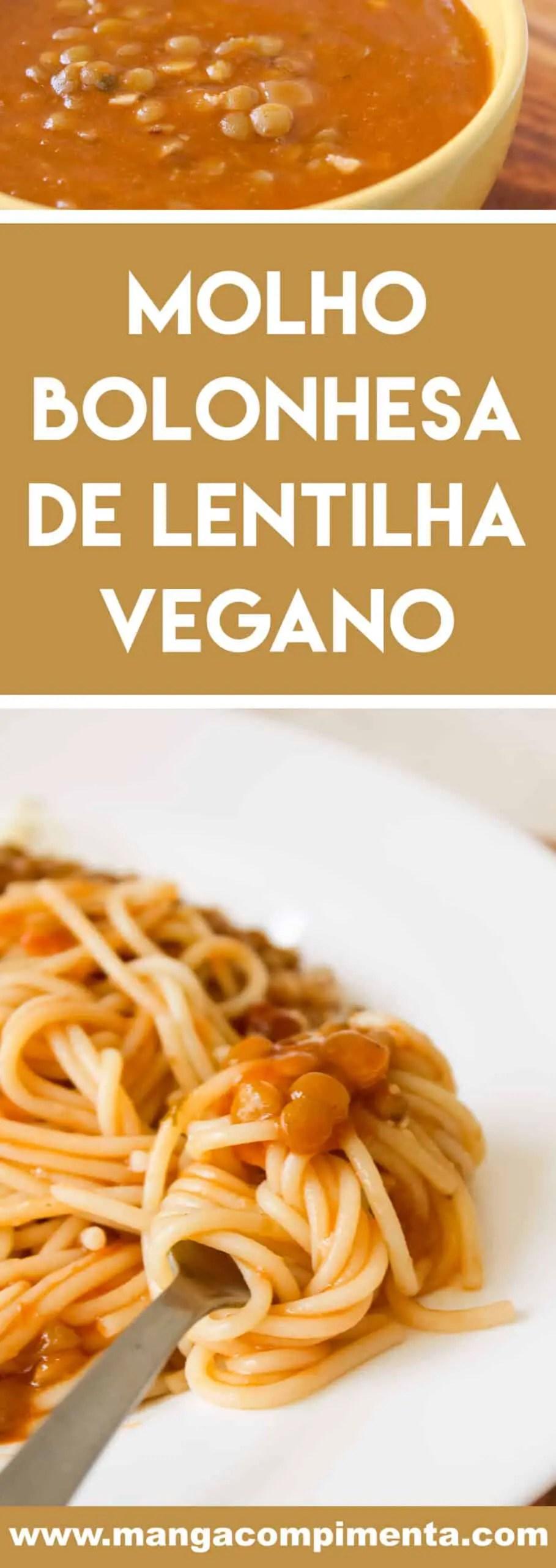 Receita de Molho Bolonhesa de Lentilha Vegano - prepare um almoço vegano delicioso para o Domingo!