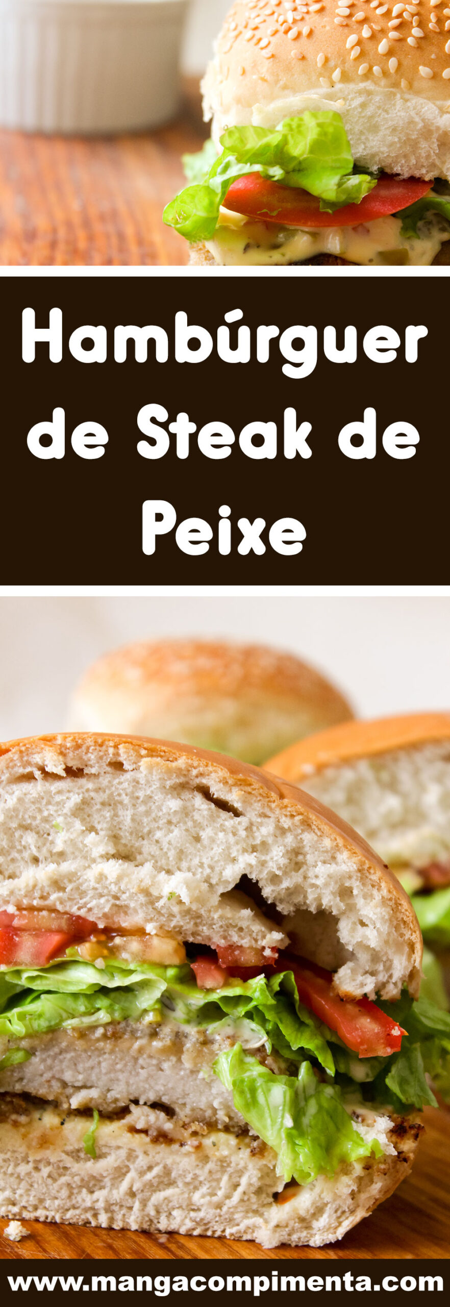 Receita de Hambúrguer de Steak de Peixe - um lanche fácil e rápido para preparar no final de semana.