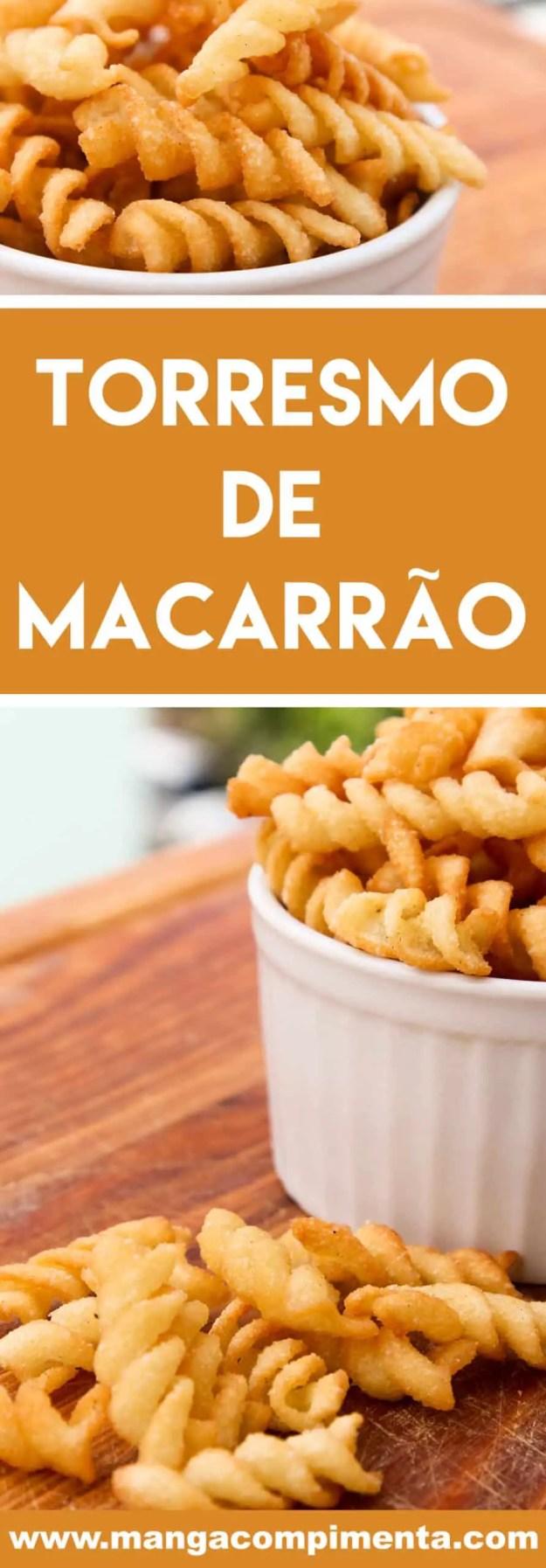 Receita de Torresmo de Macarrão - aproveite para preparar um petisco delicioso no carnaval.