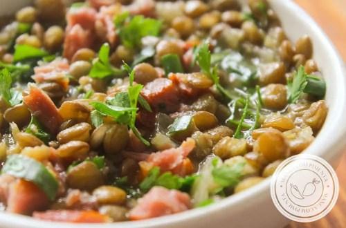 Receita de Lentilha com Costelinha Defumada - um prato delicioso para o almoço da semana.