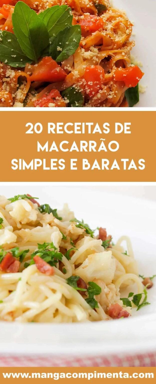 Prepare 20 receitas de Macarrão Simples e Baratas em casa - aproveite para comer bem!