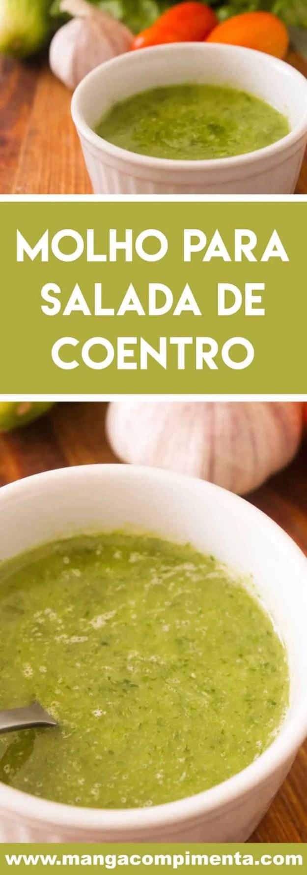 Receita de Molho para Salada de Coentro - deixe a salada do seu almoço mais saborosa!
