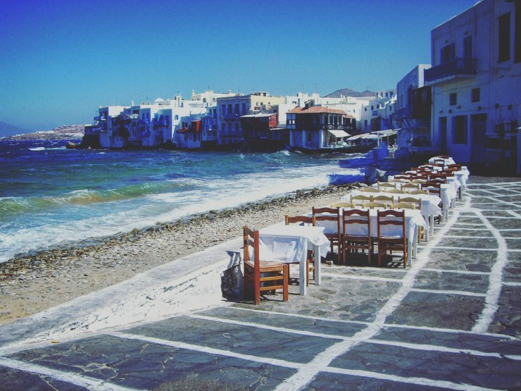 Mikonos au bords de l'eau