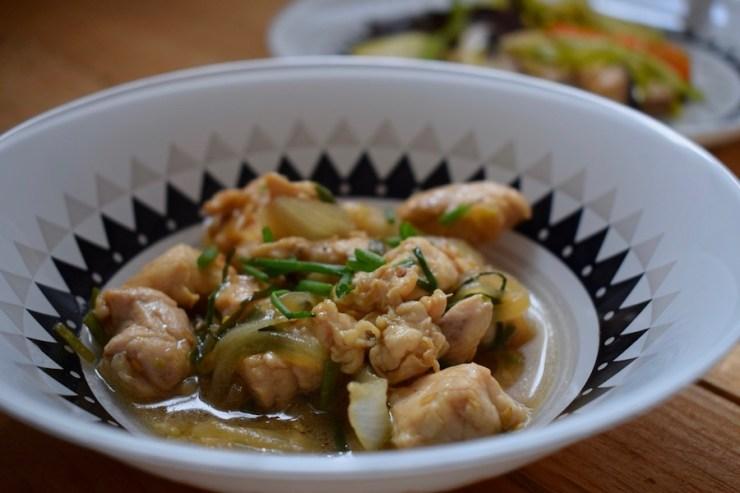 Poulet sauté au miel et au gingembre (ga xao gung)