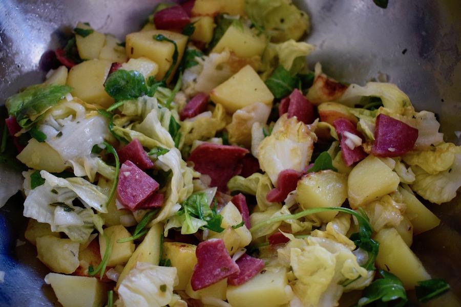 salade de pommes de terre e& chorizo