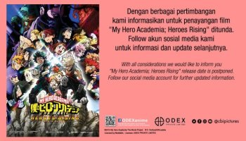 My Hero Academia: Heroes Rising di Indonesia Ditunda