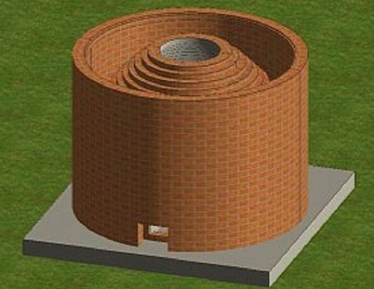 Refrakter malzeme ile iki katmanlı bir tandor seçeneği