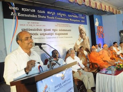 0145 Sri Yogish Bhat, Deputy Speaker delivering the address