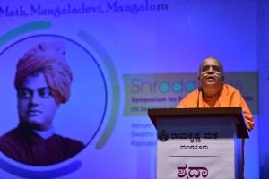 Swami Sarvasthanandaji addressing the delegtes